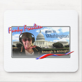 Funky Fraulien goes to Washington Mouse Pad