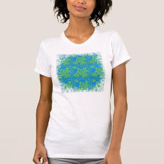 Funky Frog Blue Green Toad Kids Doodle Art T Shirt