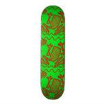 Funky Frog Lime Green Red Toad Kids Doodle Art Skate Decks
