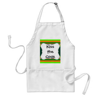 Funky Frog Orange Green Striped Novelty Gifts Standard Apron