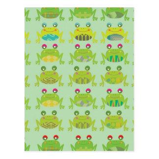 funky froggy frogs postcard