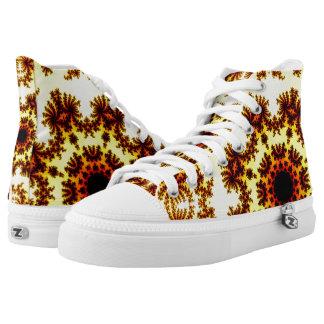 Funky Fun Fractal Design High Top Sneakers
