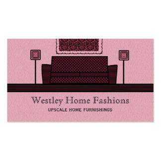 Funky Furniture Business Card, Burgundy