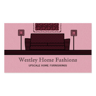 Funky Furniture Business Card, Burgundy Pack Of Standard Business Cards