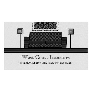 Funky Furniture Business Card, Gray Pack Of Standard Business Cards