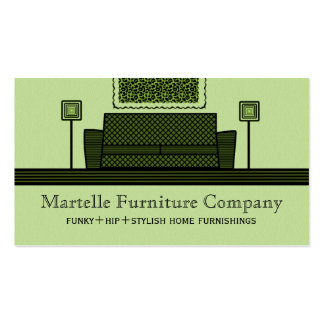Funky Furniture Business Card, Olive Green Pack Of Standard Business Cards