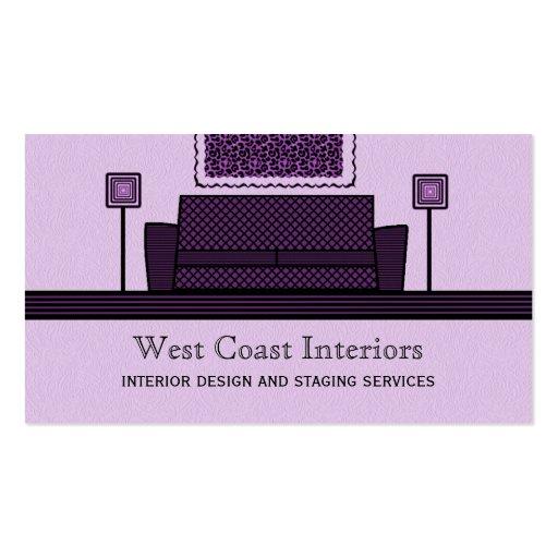 Funky Furniture Business Card, Purple