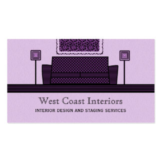 Funky Furniture Business Card, Purple Pack Of Standard Business Cards