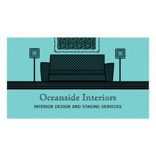 Funky Furniture Business Card, Turquoise