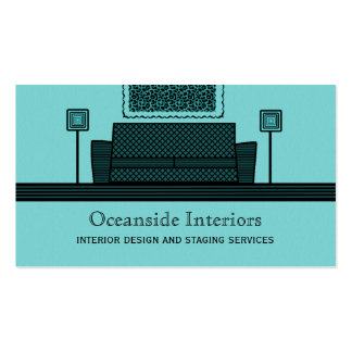 Funky Furniture Business Card, Turquoise Pack Of Standard Business Cards