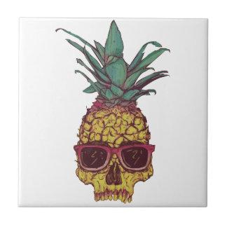 Funky Geek Cool Pineapple Punk Ceramic Tile