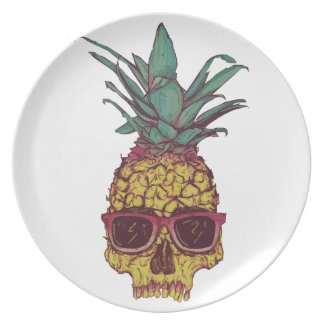 Funky Geek Cool Pineapple Punk Party Plate