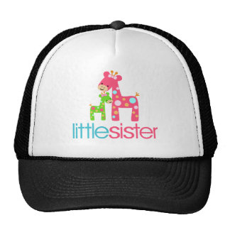 Funky Giraffe Little Sister tshirt Cap