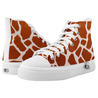Funky Giraffe Pattern Printed Shoes
