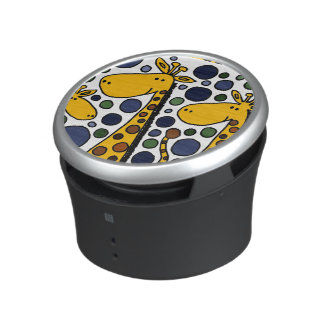 Funky Giraffes Art Abstract Bluetooth Speaker
