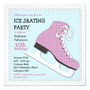 Ice skating birthday party flyers ibovnathandedecker ice skating party invitations announcements zazzle com au filmwisefo