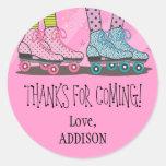 Funky Girls Roller Skating Favor Stickers