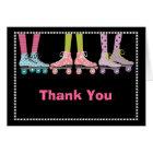 Funky Girls Roller Skating Thank You Notecard