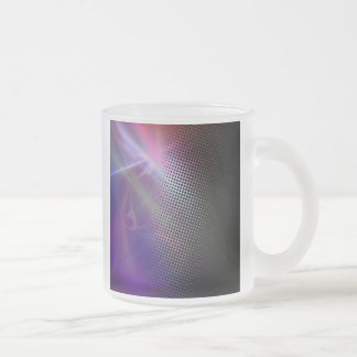 funky girly halftone textured frosted glass coffee mug