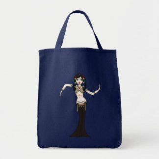 Funky Gothic Tribal Fusion Bellydancer Cartoon Tote Bag