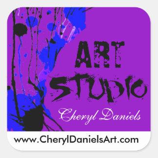 Funky Graffiti Art Studio Sticker