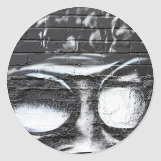 funky graffiti round sticker