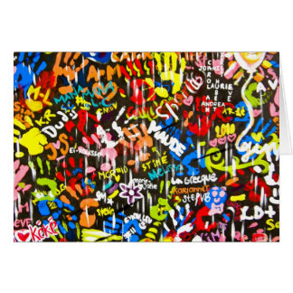 funky graffitis card