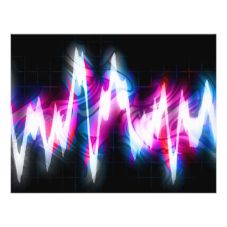 Funky Graphic EQ Audio Waveform Full Color Flyer