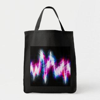 Funky Graphic EQ Audio Waveform Bag