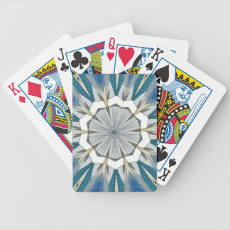 Funky Gray Blue Mandala Pattern Bicycle Playing Cards