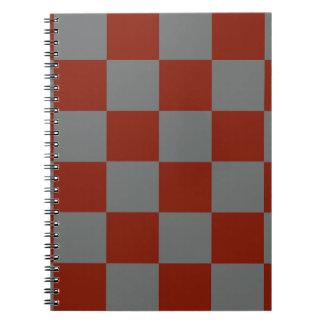 Funky Gray Burgundy Blocks Notebook