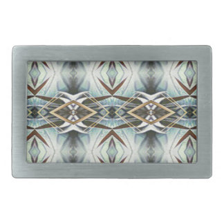 Funky Gray Pattern Belt Buckle