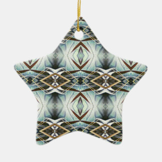 Funky Gray Pattern Ceramic Ornament
