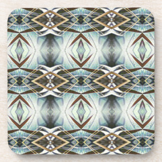 Funky Gray Pattern Coaster