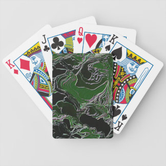 Funky Green Camo Poker Deck