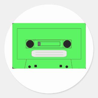 Funky green casette sticker