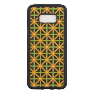 Funky Green & Orange Pattern Carved Samsung Galaxy S8+ Case