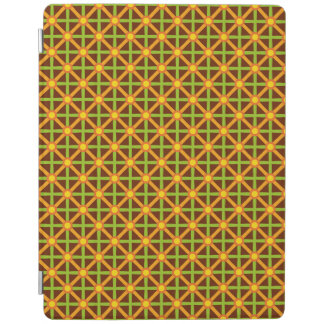 Funky Green & Orange Pattern iPad Cover
