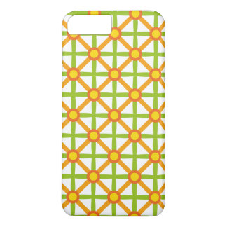 Funky Green & Orange Pattern iPhone 8 Plus/7 Plus Case