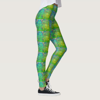 Funky Green Pattern Leggings