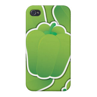 Funky green pepper cases for iPhone 4