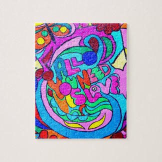 funky groovy colorful hippie puzzle