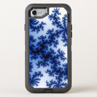 Funky Groovy Retro Delft Blue Fractal Art OtterBox Defender iPhone 7 Case