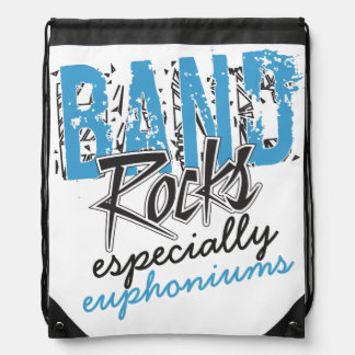 Funky Grunge Euphoniums Funny Marching Band Rocks Cinch Bag