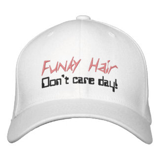 Funky Hair Humorous Caps