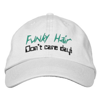 Funky Hair Humorous Caps