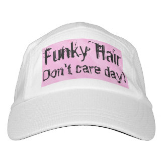 Funky Hair Pink White Hat