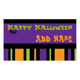 Funky Halloween Gift Tag Business Card Templates