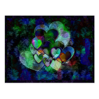 Funky Hearts Gift Postcard