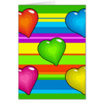 Funky Hearts Greeting Cards